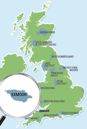 Exmoor National Park Location