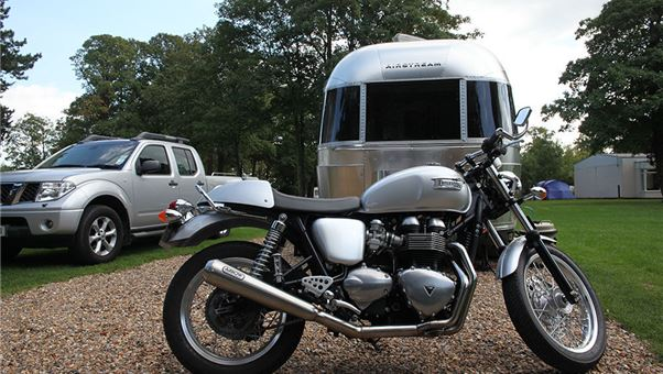 Caravanning with a motorcycle