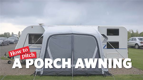 How to pitch a porch awning