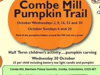 Combe Mill  Pumpkin events in October