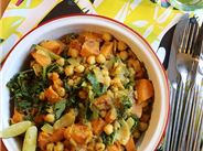 Chickpea, sweet potato spinach