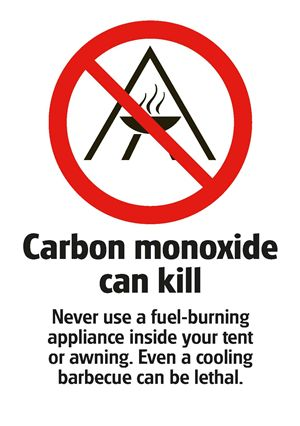 The Club's carbon monoxide warning poster
