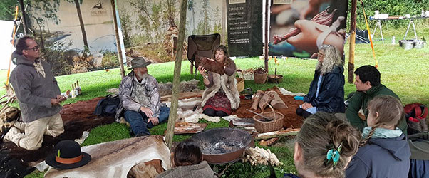 Workshops and demonstrations are a key part of the Wilderness Gathering programme