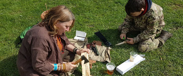 As a family-oriented event, it was no surprise to meet this mum and her son carving wooden spoons together in the sunshine