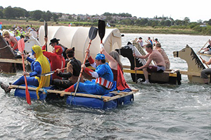 Alnmouth Raft Race is another charity event on this lovely stretch of Northumberland's coast