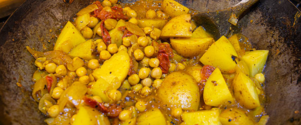 Tasty Chickpea and potato curry
