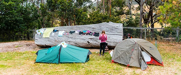 The group strike camp for a welcome rest