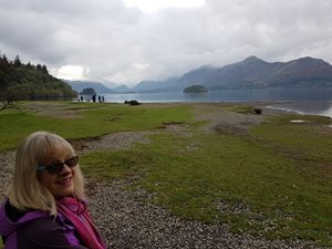 Heading off along Derwentwater – be prepared for changeable weather!