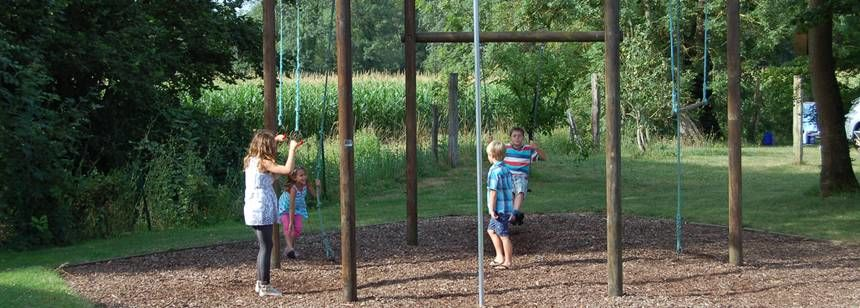 The children's play area at Le Moulin