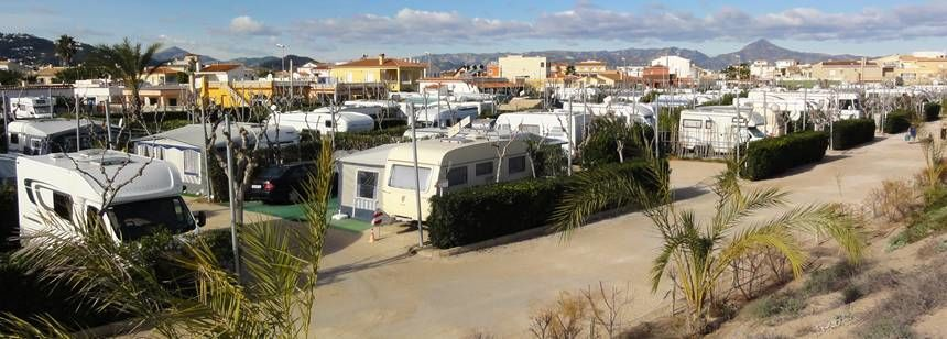 Pitches at Camping Kiko Park Campsite, Playa de Oliva, Spain