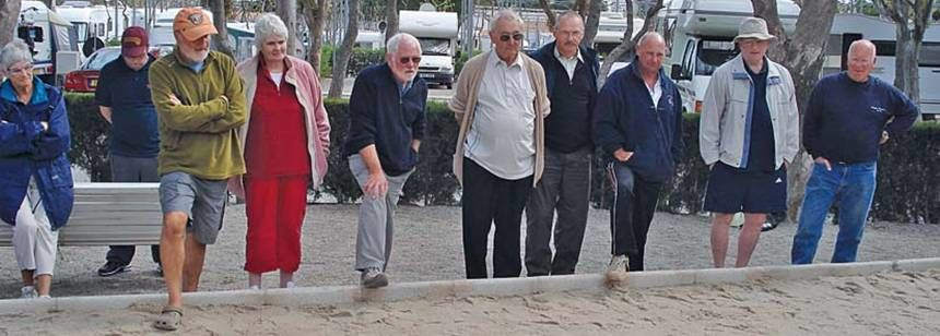 Playing Bowls With the Locals at the Camping Bonterra Park Campsite, Benicassim Spain