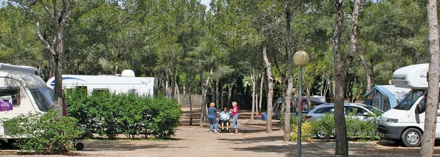Site Entrance to the Camping Vilanova Park Campsite, Vilanova I La Geltru Spain