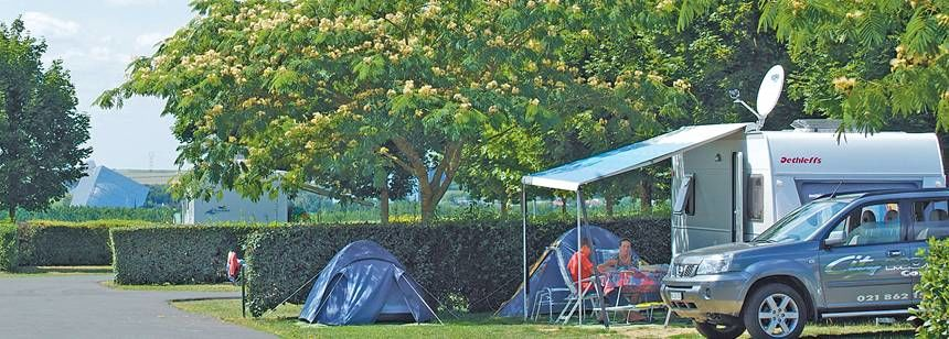 Grass and Hard Standing Pitches at the Le Futuriste Campsite, St-Georges-Les-Baillargeaux France