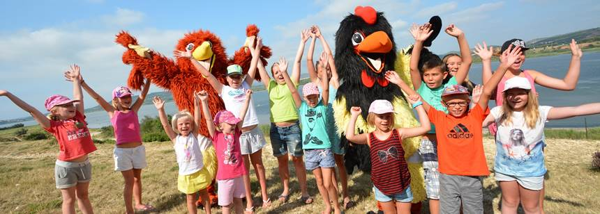 Children's activities at Camping La Nautique, near Narbonne, Languedoc-Roussillon, France