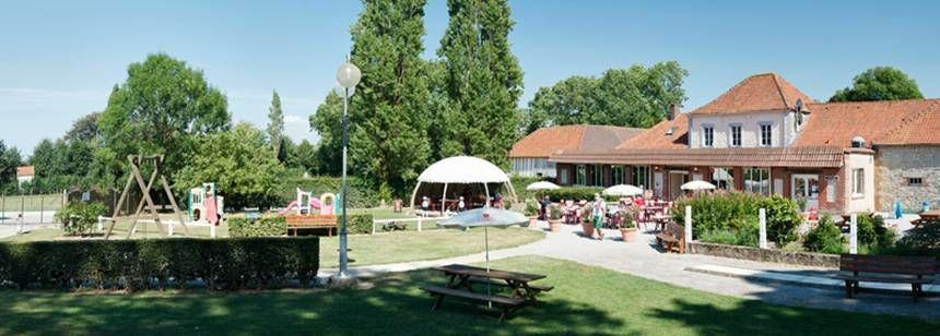 Restaurant and Childrens Play Area at the La Bien Assise Campsite, Guines France