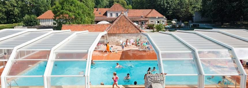 Swimming Pool at the La Bien Assise Campsite, Guines France