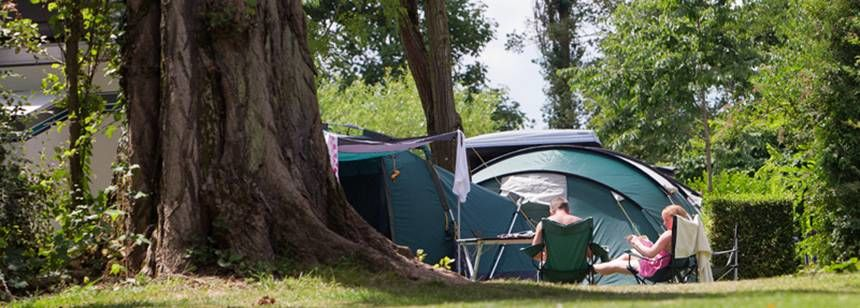 Relaxing In the Sun at the La Bien Assise Campsite, Guines France