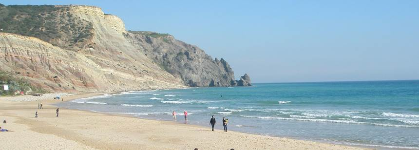 Scenic Views of the Beach at the Turiscampo Campsite, Lagos Portugal