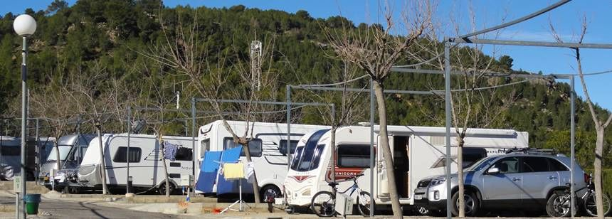 Pitches at Camping Altomira,Valencia region, Navajas, Spain