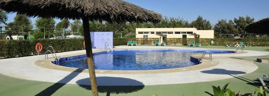 Swimming Pool and Facilities at the Camping Cabo De Gata Campsite, Almeria Spain