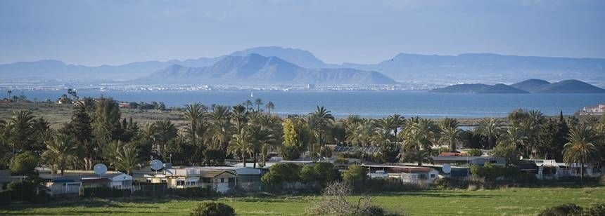 Views over the Caravaning La Manga to the Mar Menor lagoon