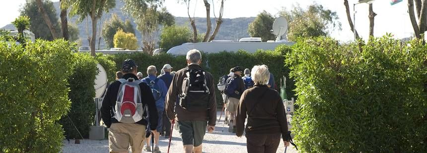 Walking Through the Caravaning La Manga Campsite, La Manga Del Mar Menor Spain