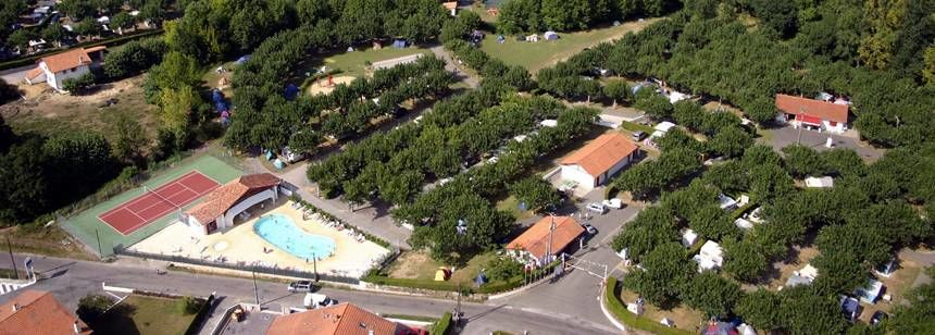 Arial Views Over the Larrouleta Campsite, Urrugne France