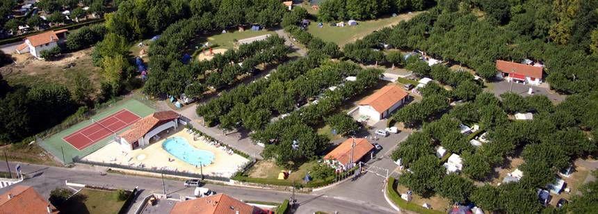 Arial Views Over the Larrouleta Campsite, Urrugne France