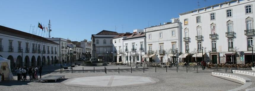 A tranquil square in Tavira, near Camping Ria Formosa, Algarve