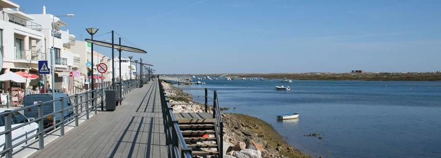 Views Over the Sea at the Ria Formosa Campsite, Portugal