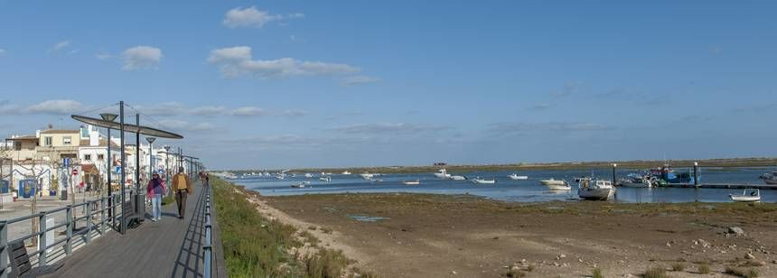 The promenade at Cabanas de Tavira, near Camping Ria Formosa, Algarve