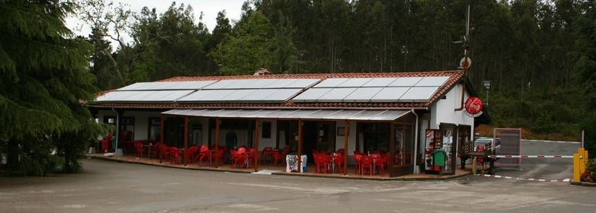 The restaurant at Camping El Helguero, Ruiloba, Bilbao and Santander region, Spain