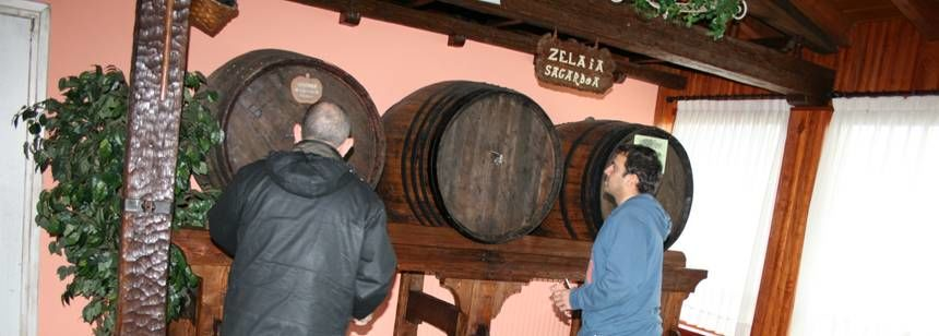 The cider house at Camping Zarautz, Zarautz, Bilbao and Santander region, Spain