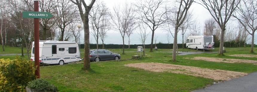 The pitches at Camping Zarautz, Zarautz, Bilbao and Santander region, Spain