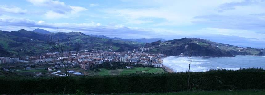 The view from Camping Zarautz, Zarautz, Bilbao and Santander region, Spain