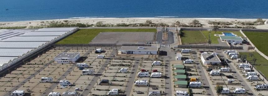 Camping Mar Azul is right on the coast one mile from the centre of Balerma