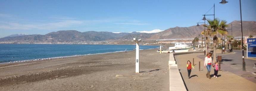 Balerma promenade starts just half a mile from Camping Mar Azul