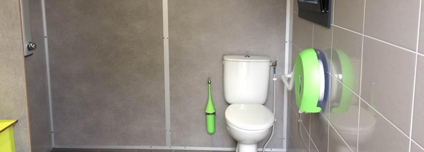 New dedicated accessible bathroom, Camping le Jardin de Sully, St Père-sur-Loire, France
