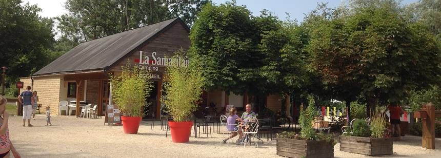 The entrance at Camping La Samaritaine, Buzancy, France