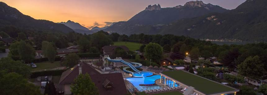 Sunset at Camping La Ravoire, Lake Annecy, Alps, France
