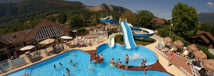 Camping La Ravoire, near Annecy, pools and slides