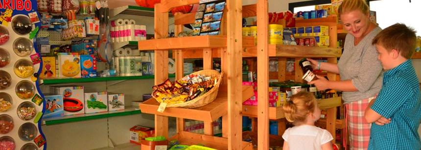The shop at Camping La Ravoire, Lake Annecy, Alps, France