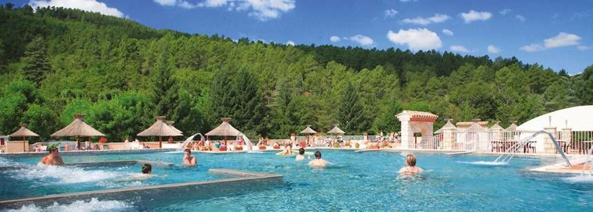 The loverly pool at Camping les Ranchisses, Ardèche, France.