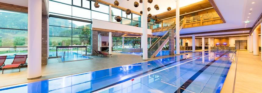 Swim indoors/outdoors in the pools at campsite Sportcamp Woferlgut, Austria
