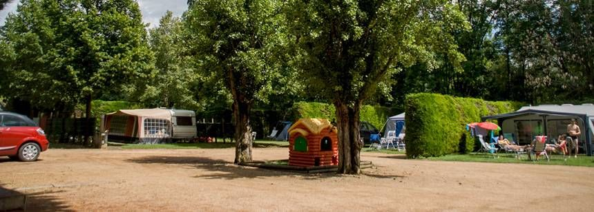 The entrance at Le Clos Auroy campsite, Orcet, France