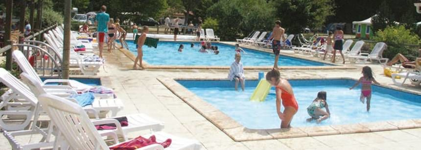 Swimming Pool at the Le Clos Auroy Campsite, France