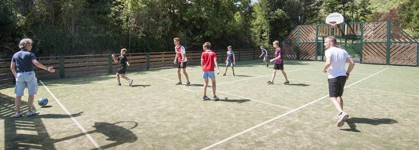 Multisports court at Val de Cantobre, Gorges de Dourbie, France