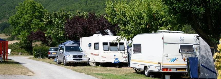 Grass Pitches in the Scenic Val De Cantobre Campsite, France