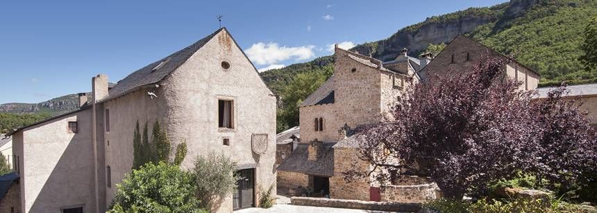 Main site buildings at Val de Cantobre, Gorges de Dourbie, France