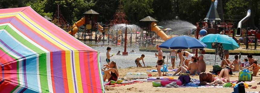 Beach and Water Sports Activities at the De Lilse Bergen Campsite, Belguim